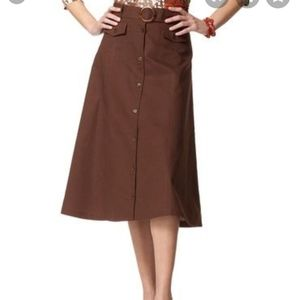 Coldwater Creek Safari A Line Skirt Size PM